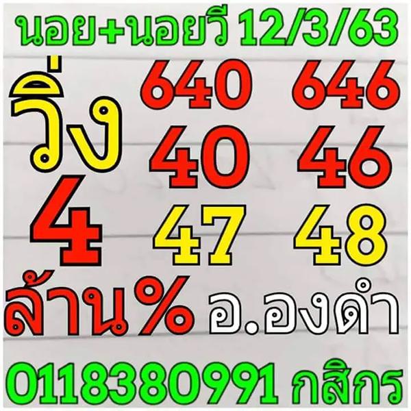 หวยฮานอย 12/3/63 ชุด15