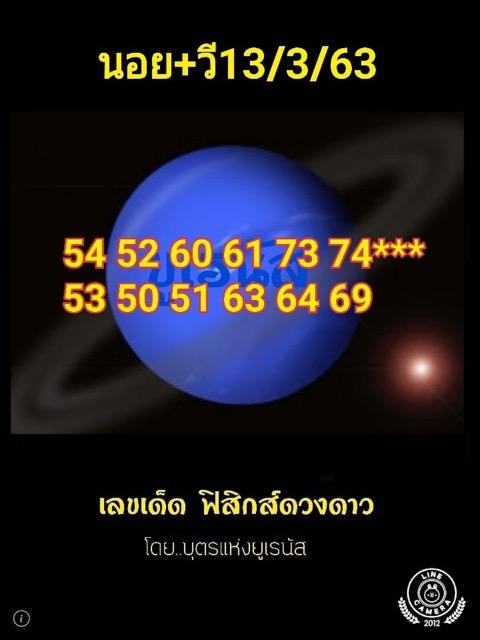 หวยฮานอย 13/3/63 ชุด24
