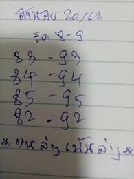 หวยฮานอย 20/12/62 ชุด16