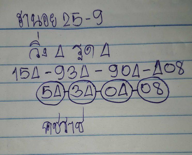 หวยฮานอย 25/9/62
