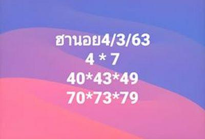 หวยฮานอย 4/3/63 ชุด6