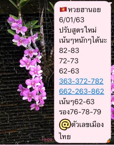 หวยฮานอย 6/1/63 ชุด12