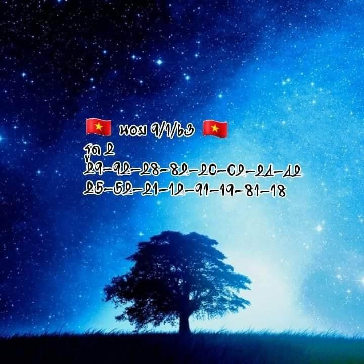 หวยฮานอย 9/1/63 ชุด15
