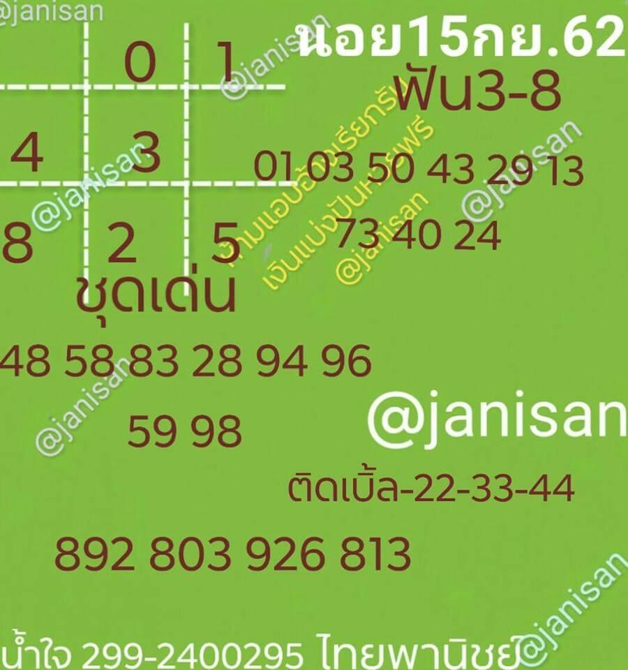 หวยฮานอย15-9-62