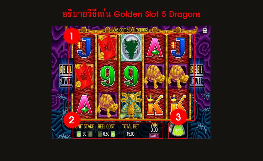 กติกา วิธีเล่นสล็อต 5 Dragons
