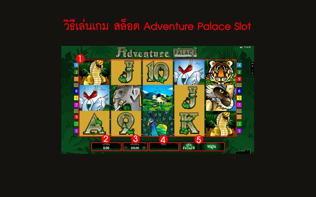 กฎกติกาวิธีเล่น สล็อต Adventure Palace Slot