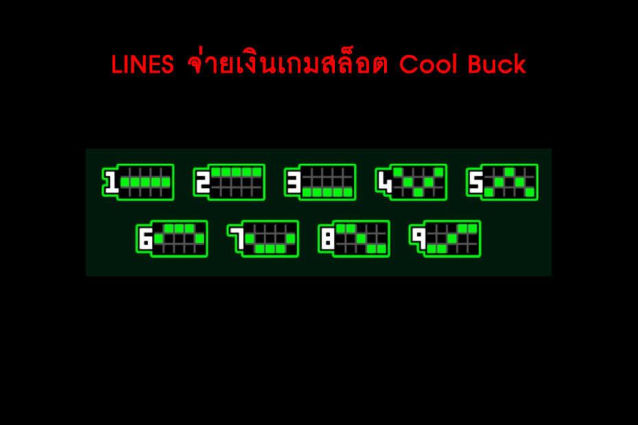 เส้นไลน์เดิมพัน Golden Cool Buck Slot
