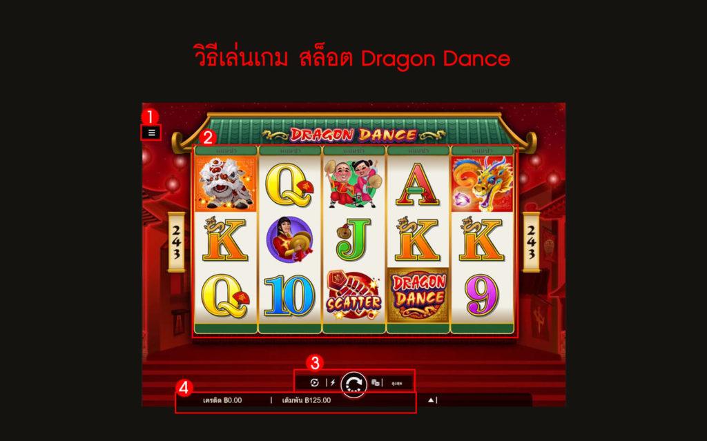 กฎกติกา วิธีเล่นสล็อต Dragon Dance