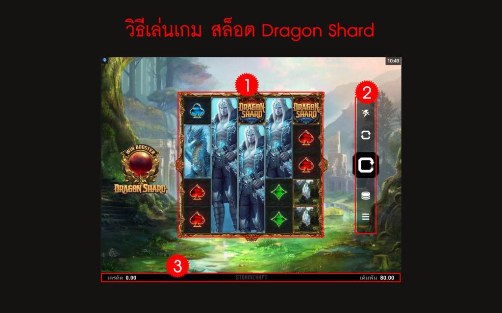 กฎกติกา วิธีเล่นเกม สล็อต Dragon Shard