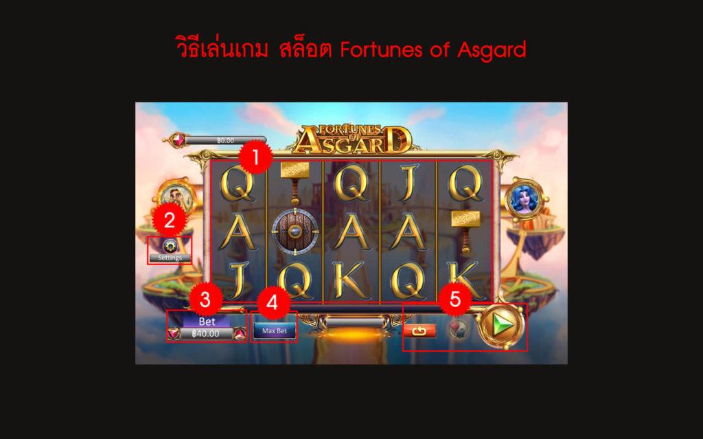 กฎกติกา วิธีเล่น สล็อต Fortunes of Asgard