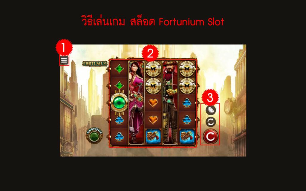 กฎกติกาวิธีเล่นเกมสล็อต Fortunium Slot