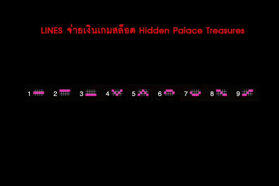 เส้นไลน์วางเดิมพัน Golden Hidden Palace Treasures Slot