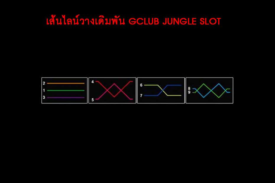 เส้นไลน์วางเดิมพัน GCLUB JUNGLE SLOT
