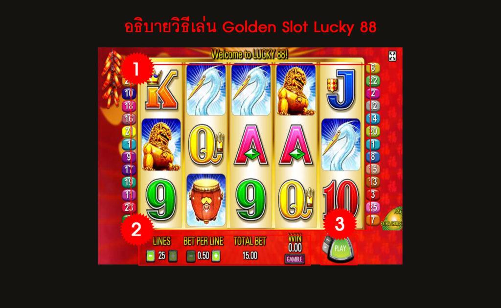 กติกา วิธีเล่นเกม Lucky 88 Slot