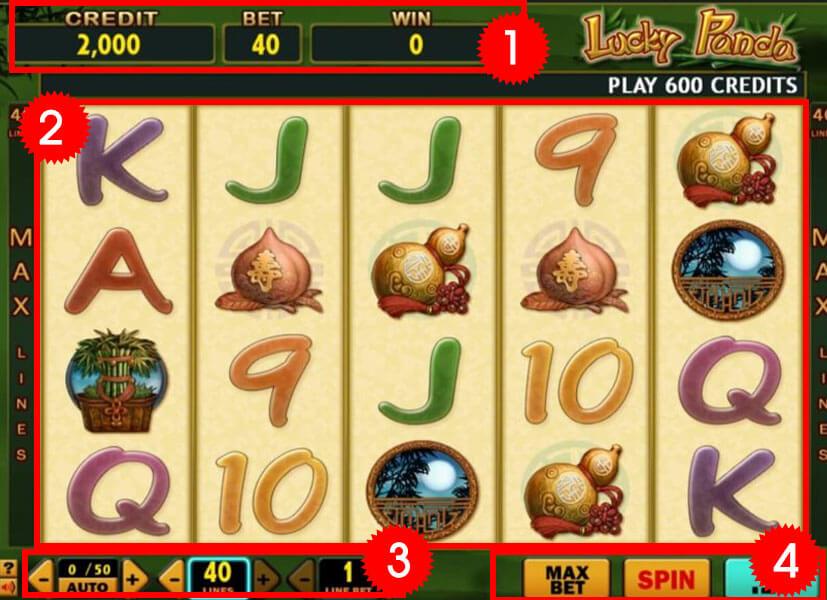 วิธีเล่นเกม สล็อตหมีแพนด้า Gclub Lucky Panda Slot