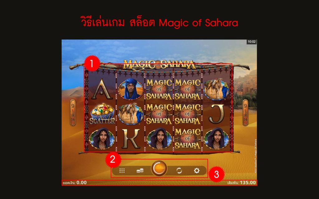 กฎกติกา วิธีเล่นเกมสล็อต Magic of Sahara