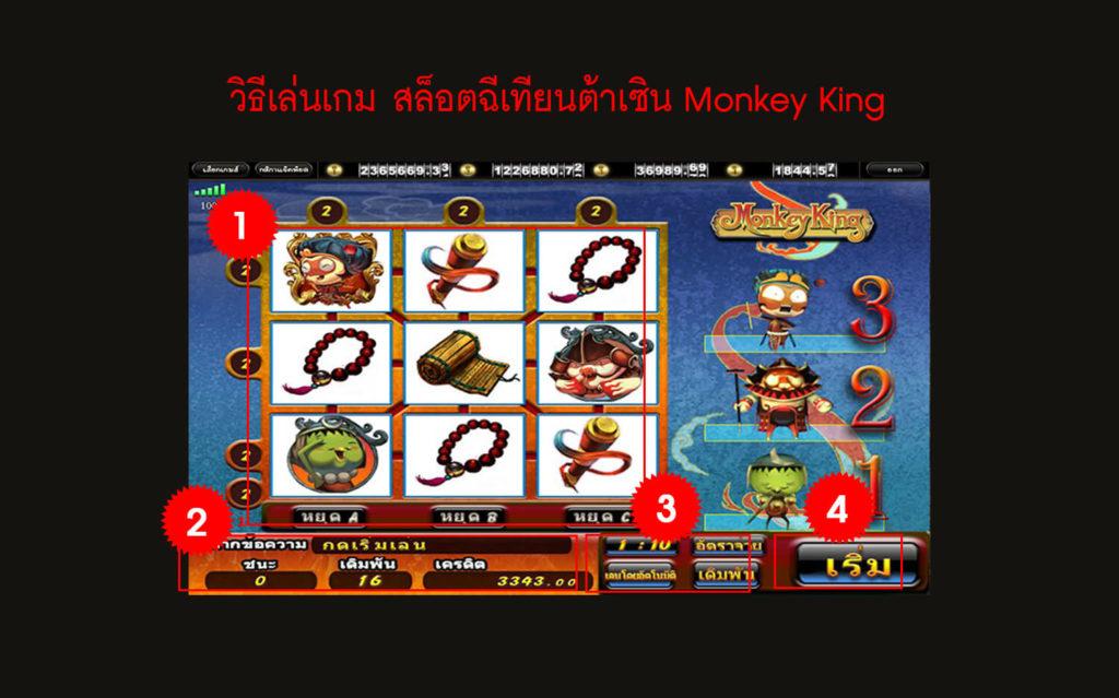 กฎกติกา วิธีเล่นเกม สล็อตฉีเทียนต้าเซิน Monkey King