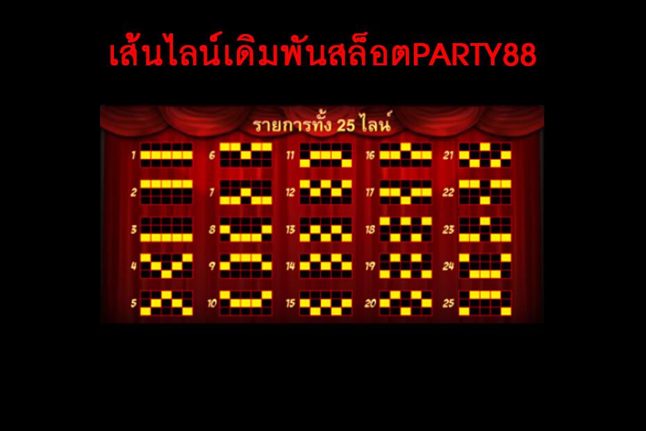 เส้นไลน์วางเดิมพันของ Gclub Party88 Slot