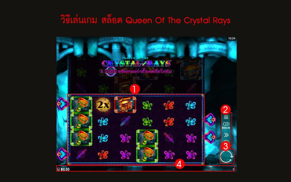 กฎกติกา วิธีเล่นเกม สล็อต Queen Of The Crystal Rays