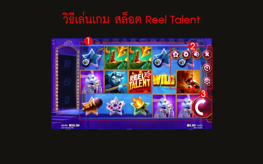 กฎกติกาวิธีเล่นสล็อต Reel Talent Slot