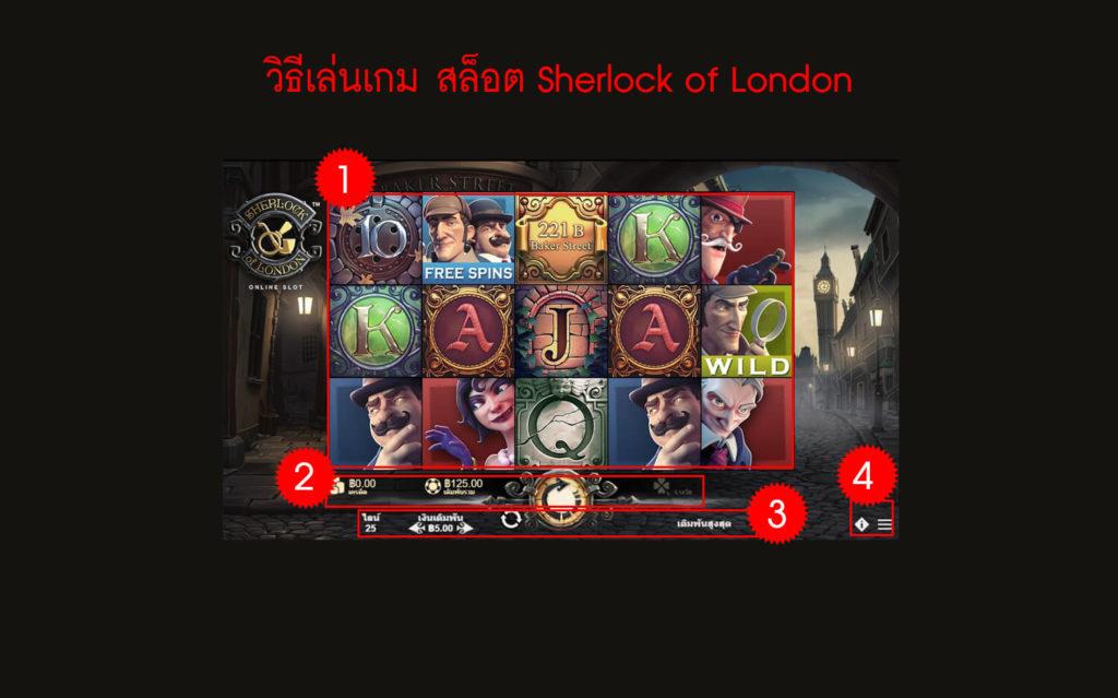 กฎกติกา วิธีเล่นเกม Sherlock of London Slot