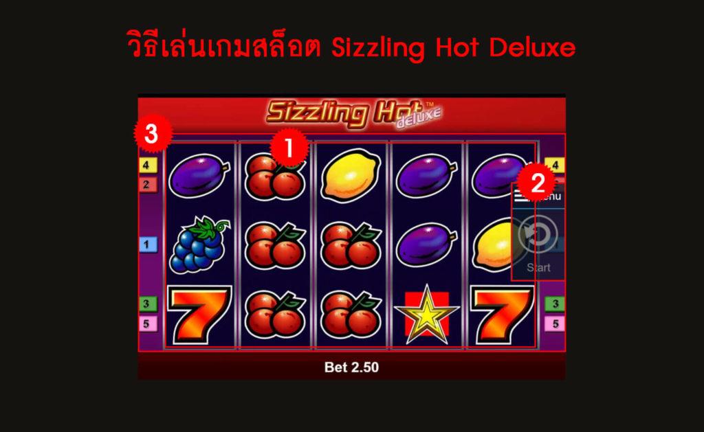 กฎกติกาวิธีเล่นเกมสล็อต Sizzling Hot Deluxe