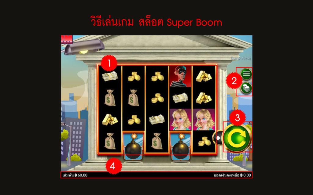 กฎกติกา วิธีเล่นเกม Super Boom ให้รวย