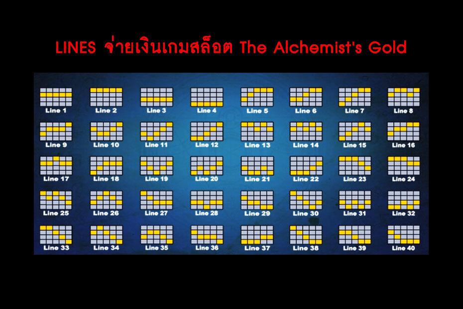 เส้นไลน์วางเดิมพัน Golden The Alchemist's Gold Slot