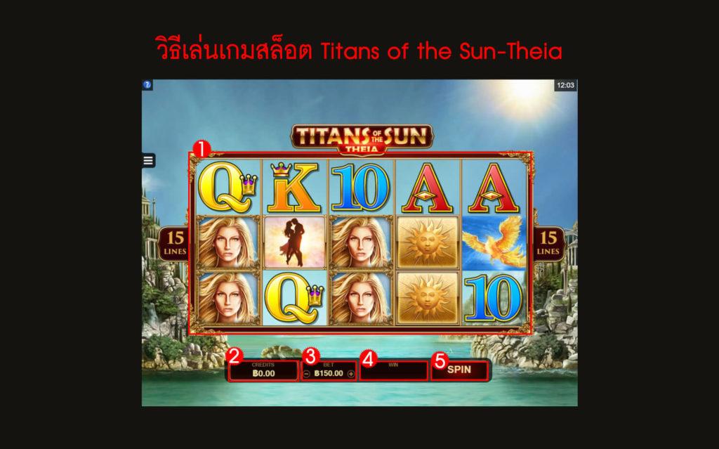 กฎกติกา วิธีเล่นเกมสล็อต Titans of the Sun-Theia Slot