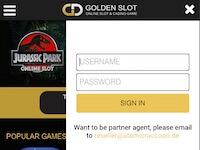 ขั้นตอนที่ 2. การเข้าสู่ระบบ Golden slot เพื่อเข้าเล่น